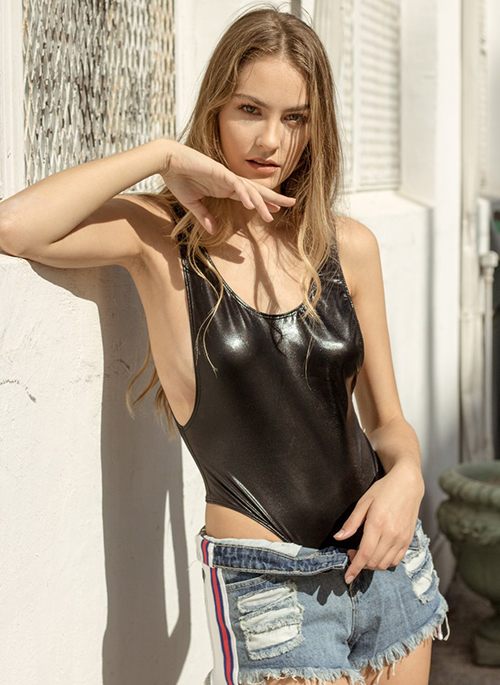 Aria Faux Leather Body Suit